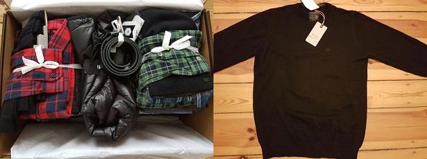 Paket und Pullover
