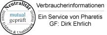 Verbraucherinformation Pharetis GmbH